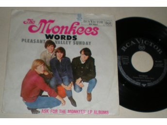 Monkees 45/PS Words 1967