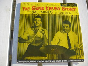 THE GENE KRUPA STORY   Soundtrack  VERWE  EP  KRUPA/ ANITA O DAY/RED NICHOLS