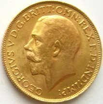 Sovereign 1925. George V. 7,32 g guld.