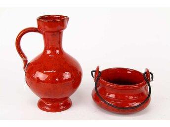 VAS och SKÅL Keramik 1960--70 talet vasen 27 cm hög - Forshaga - VAS och SKÅL Keramik 1960--70 talet vasen 27 cm hög - Forshaga
