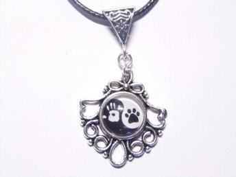 Tass Ying Yang Halsband / Paws Necklace