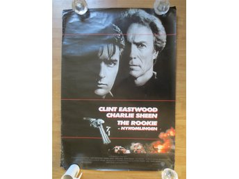 THE ROOKIE-NYKOMLINGEN. Clint Eastwood & Charlie Sheen. Filmaffisch. 100 x 70 cm