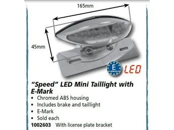 LED Speed Mini Taillight by custom chrome® LED Bakljus
