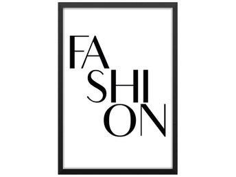Affisch/Poster Fashion/Mode Ord/Text/Skrift 33x48cm