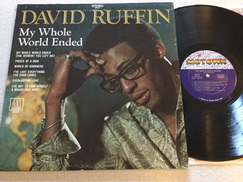 Lp David Ruffin-My whole world ended US org på Motown
