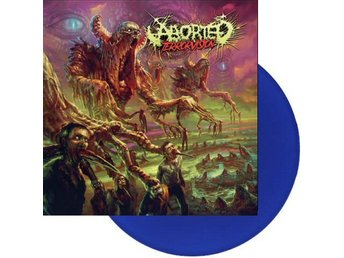Aborted -TerrroVision LP and CD Blue ltd 200 2018 death meta