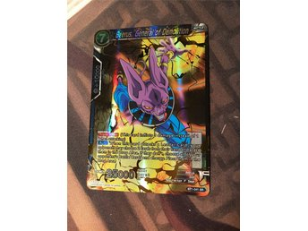 Beerus, General of Demolition SR Super Rare Dragon Ball Super Kort Dragonball