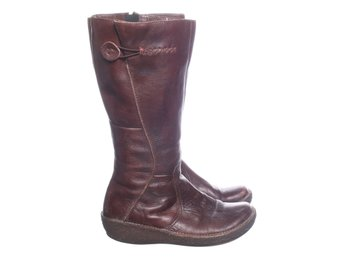 Hush Puppies, Boots, Strl: 39, Brun, Skinnimitation