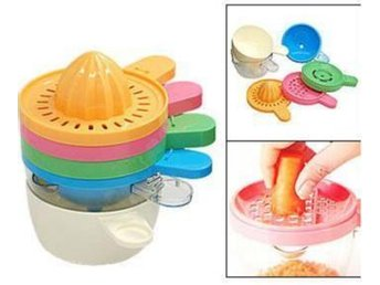 NY!Mini Plastic Multicolored 6 in 1 Juicer Kitchen Set