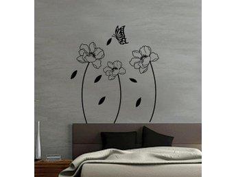 Väggdekor Grå : Blommor d effekt styck vita väggdekor på tradera Övrig