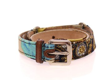 Dolce & Gabbana - Multicolor Leather Printed Belt