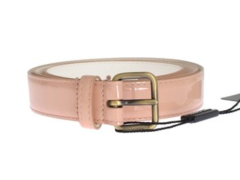 Dolce & Gabbana - Pink Patent Leather Gold Belt