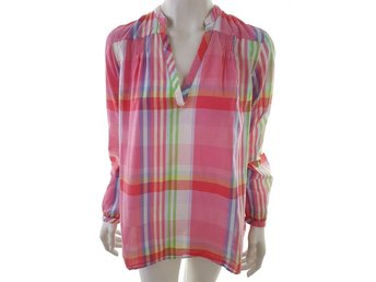 Tommy hilfiger Long Sleeve Tunic Size 10 (38) Pink 100% Cotton Grill