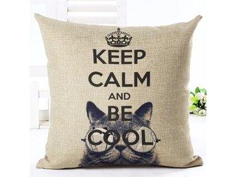 Keep Calm And Be Cool Kuddfodral Soffkudde Kudde Prydnadskudde Örngott Fodral - Samut Prakan - Keep Calm And Be Cool Kuddfodral Soffkudde Kudde Prydnadskudde Örngott Fodral - Samut Prakan