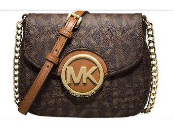 **USA**NY ÄKTA MICHAEL KORS FULTON SMALL CROSSBODY BROWN.