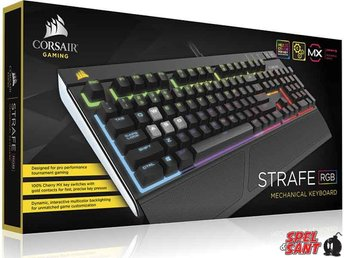 Corsair Gaming Strafe RGB Cherry MX Silent Mechanical Gaming Keyboard (Nordisk) - Norrtälje - Engineered for Performance After 20 years of pushing the limits of innovation, Corsair Gaming takes the power of Cherry MX German engineering one step further. Ultra Quiet Cherry MX Silent high-performance key switches make it up to 30% quiet - Norrtälje