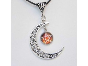 Pentagram Måne Halsband / Moon Necklace