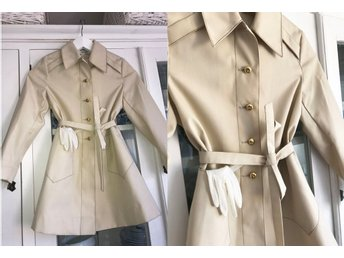Rosendals Diolen Vintage trench kappa 50-tal 60-tal beige retro trenchcoat 125