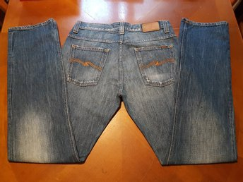 Nudie modell Average Joe Sant twater Blue jeans storlek 33x34