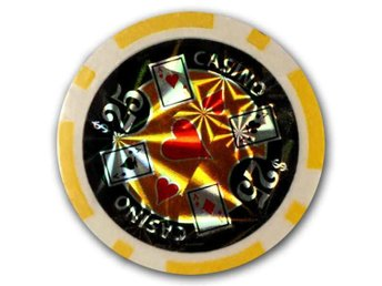 poker chips Casino laser $25 gul-50 st.