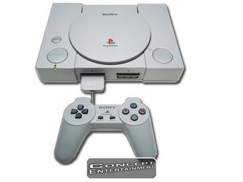 KONSOL, KABLAR, HANDKONTROLL till Sony Playstation 1 PS1