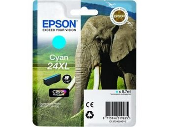 Epson C13T24324010 Cyan 24XL Claria Photo HD Ink (8,7ml) - Nossebro - Epson C13T24324010 Cyan 24XL Claria Photo HD Ink (8,7ml) - Nossebro