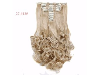 Hårförlängning AshBlonde 27-613# Extensions 18 Clips in Hair 180g