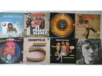 Paket med 8 lp-70-tals -pop-George Baker,Exseption,Middle of the road,DCF