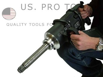 US PRO TOOLS 1 inch Dr Heavy Duty Industrial Air Impact Gun Wrench 3800NM