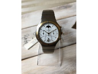 Eterna Airforce Chronograph Moonphase Gold, Brand New