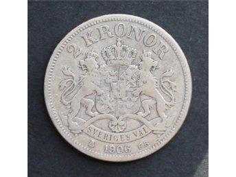 SVERIGE - 2 kronor 1906 - Silvermynt 80% - Silver 0.800 - åmål - SVERIGE - 2 kronor 1906 - Silvermynt 80% - Silver 0.800 - åmål