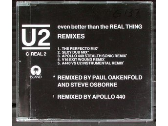 U2 - EVEN BETTER THAN THE REAL THING. REMIXES.