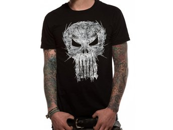 PUNISHER - SHATTER SKULL T-Shirt - Large