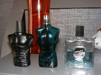 Denim black och Gaultier-aftershave,Catsuit eau de toilette spray - Spånga - Denim black och Gaultier-aftershave,Catsuit eau de toilette spray - Spånga