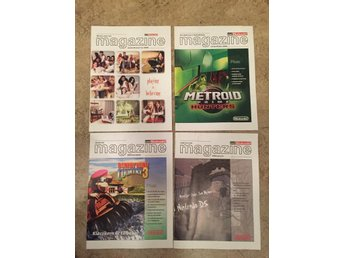 Lot med 9 Club Nintendo Magazine 2005-2006