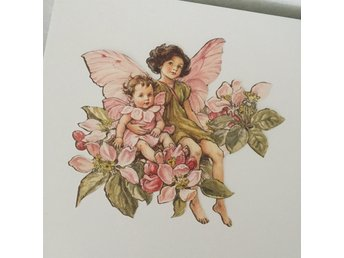 Flower fairies wallies väggdekor decoupage