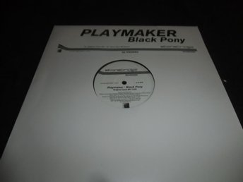 "Playmaker - Black Pony - Promo 12"" - 2001 - House"