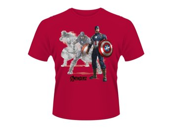 MARVEL AVENGERS- CAPTAIN A DRAW T-Shirt -  X-Large
