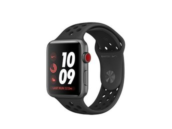 Apple Watch, series 3 Nike +, 42 mm, space gray, GPS & cellular till jul!