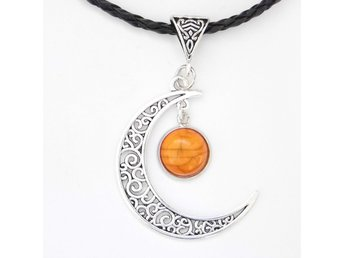 Orange Måne Halsband / Orange Moon Necklace
