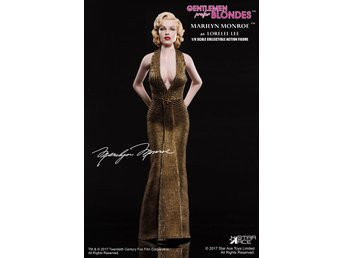 Marilyn Monroe: Lorelei Lee - Gold dress version 1:6 Scale Figure 29 Cm