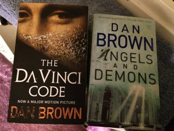 Dan Brown, Da Vinci Code & Angels and Demons, på engelska, pocket