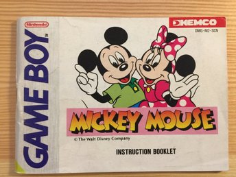 Mickey Mouse manual (SCN) Gameboy Game Boy