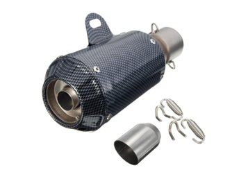 38-51mm Motorcycle GP Exhaust Muffler Pipe Silencer End S...