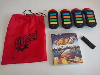 - Buzz paket med trådlösa Buzzers & Scene It? PS3 -