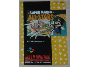 Super Nintendo/SNES: Manual Instruktionsbok Super Mario All-stars (SCN)