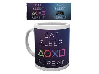 Playstation - Eat Sleep Repeat - Mugg