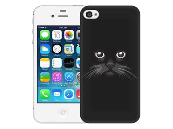 iPhone 4/4s Skal Svart Katt