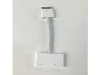 Apple, Adapter/Laddare, 30 pin, Vit