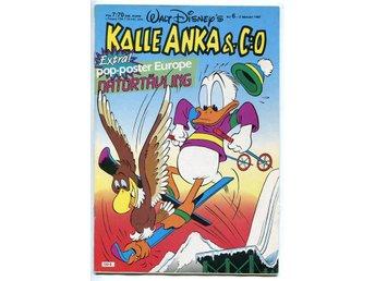Kalle Anka & Co Nr 6 - 1987 med EUROPE poster / Joey Tempest - Motala - Kalle Anka & Co Nr 6 - 1987 med EUROPE poster / Joey Tempest - Motala